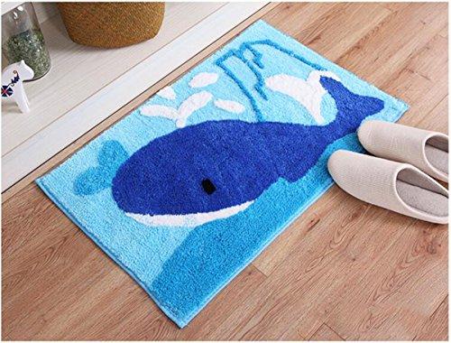 Hapll Cute Animal Whale Handmade Bath Mat Animal Rugs For