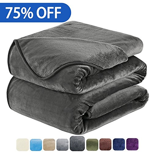 soft blanket king size fleece warm fuzzy throw blankets for the bed sofa lightweight 350gsm hozy. Black Bedroom Furniture Sets. Home Design Ideas