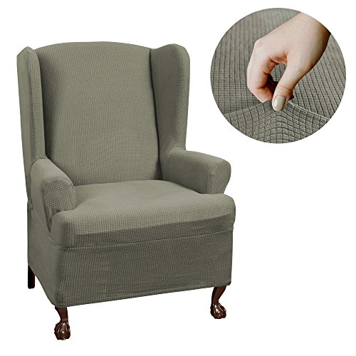 Piece T Cushion Wingback Chair With Arms Furniture Cover