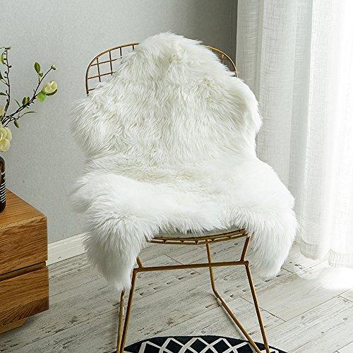 Carvapet Luxury Soft Faux Sheepskin Chair Cover Seat