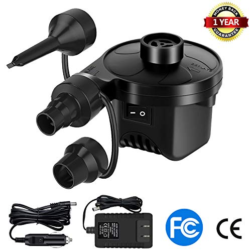 220V//12V Car Home Electric Air Pump Camping Bed Mattress Inflator Pool Boat Sofa